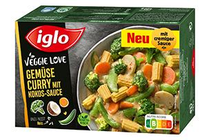 iglo Veggie Love Gemüse Curry