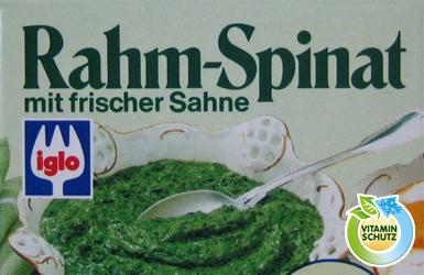 Spinat gefrieren