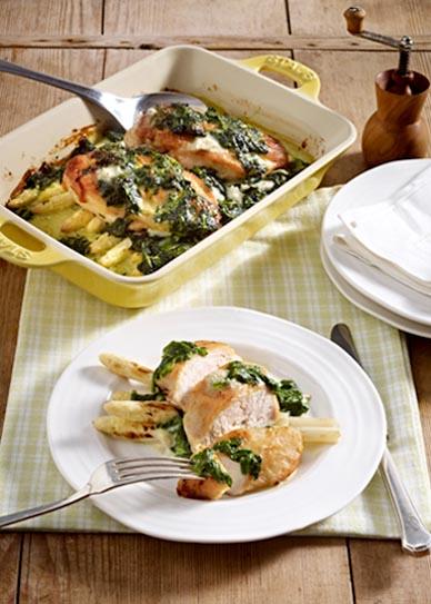 Spinat Gorgonzola Hähnchen
