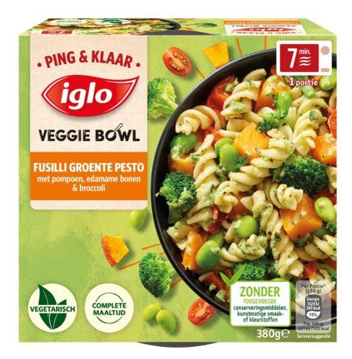 Ping Klaar Fusilli met groente pesto