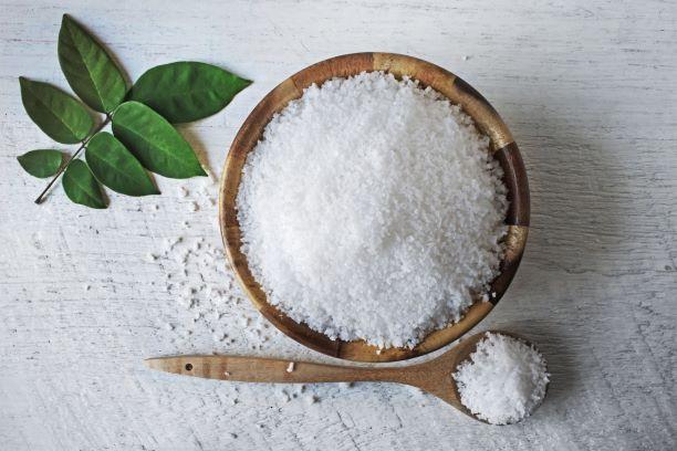 Een kom met zout