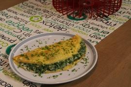 Hartige pannenkoek met spinazie