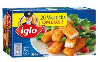 Iglo Vissticks 17st + 3st gratis