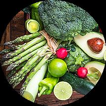 Optie vegetarisch in spinazie tool