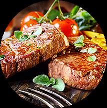 Optie vlees in spinazie tool
