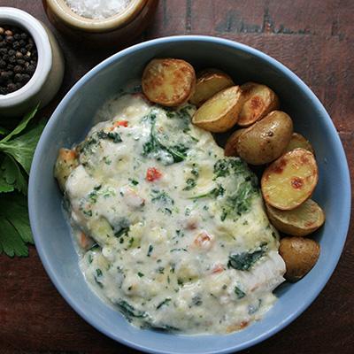 fish cuisine met aardappels
