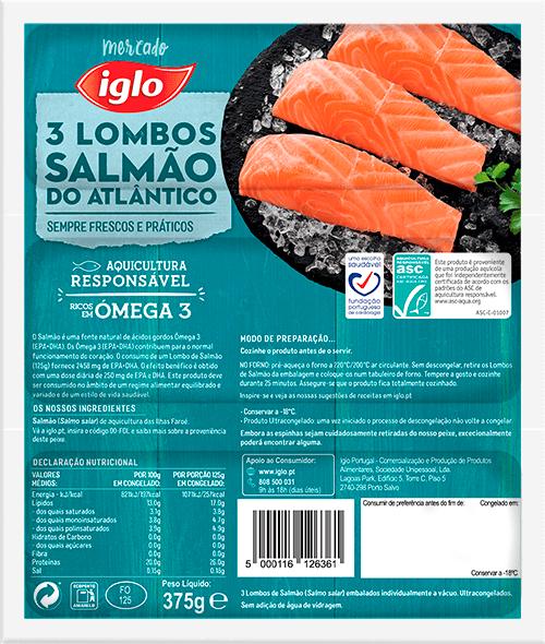 lombos de salmão iglo