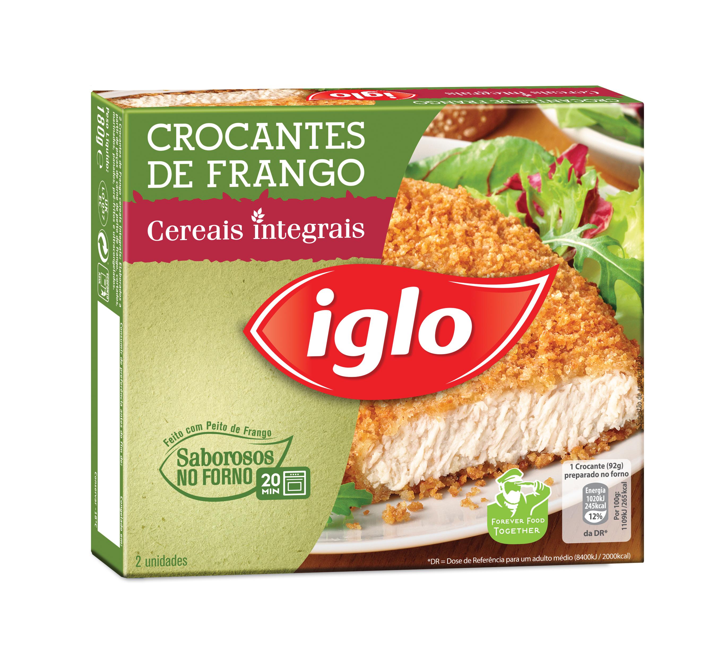 2 Crocantes de frango com cereais integrais