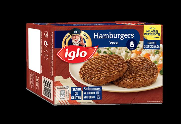8 Hamburgers de Vaca Sem Glutén