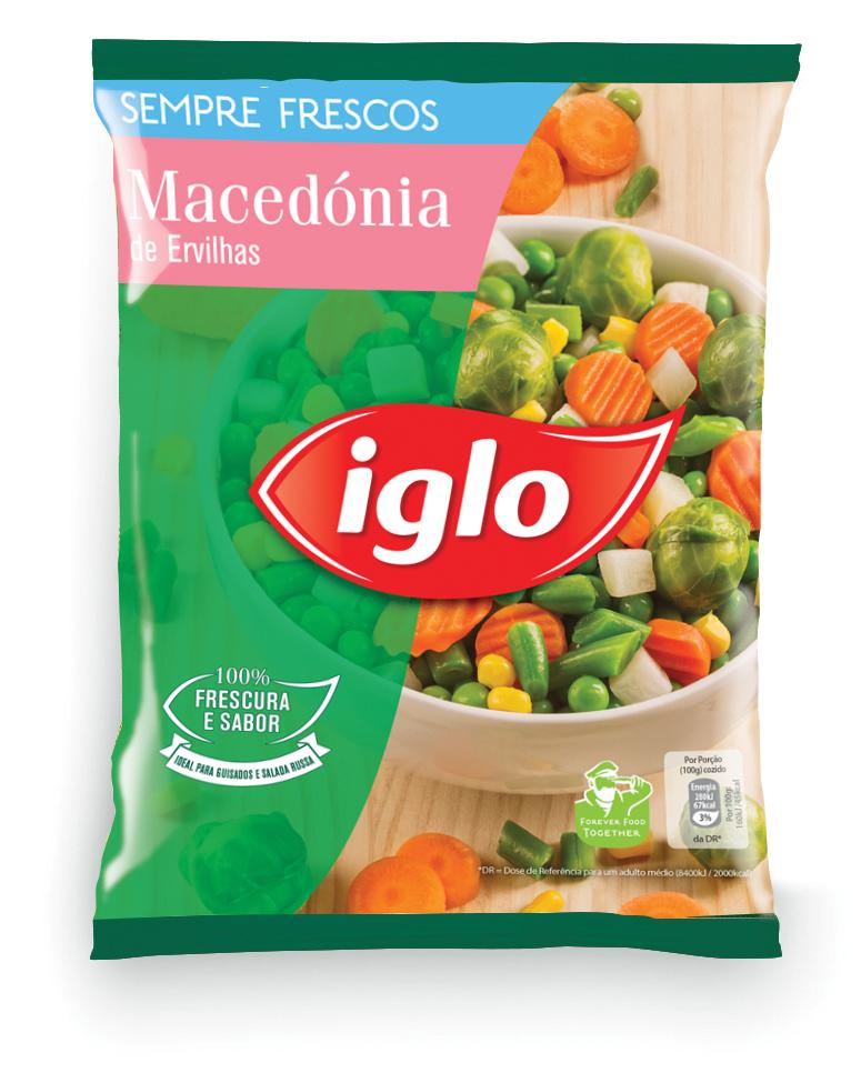 macedónia de ervilhas iglo