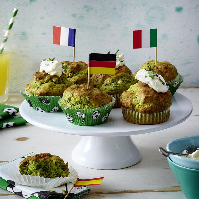 spinat muffins fussball