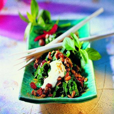 indischer spinat salat