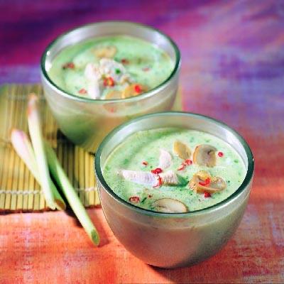 scharfes kokosnuss spinat sueppchen