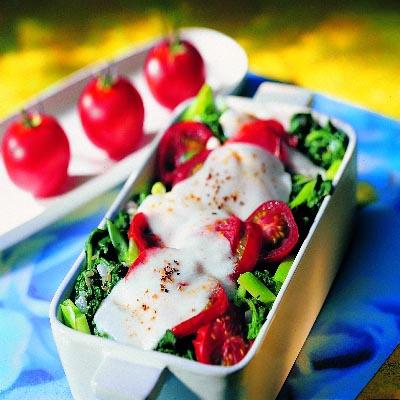 spinat gratin mit mozzarella
