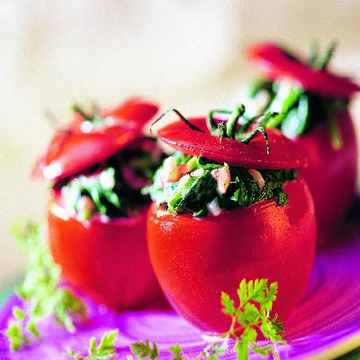 spinat tomaten