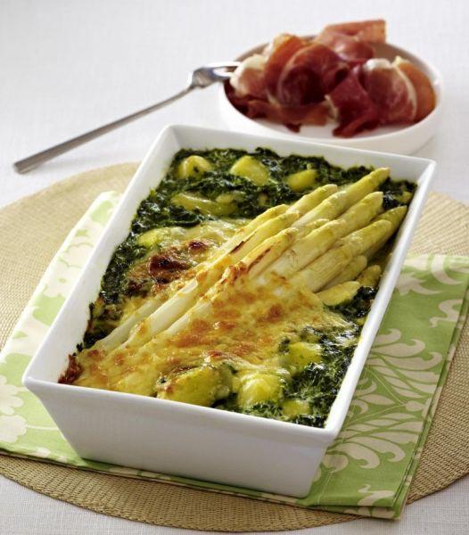 spargel spinat auflauf mit kartoffeln