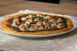 zalmspinazie pizza