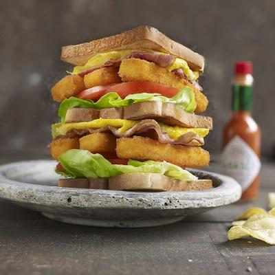 Visstick clubsandwich
