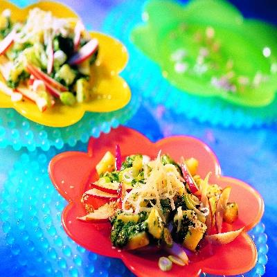 Aardappelsalade met spinazie