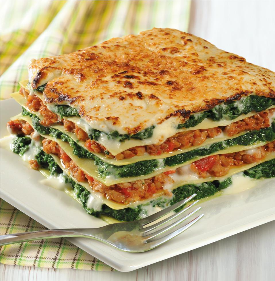 lasagne gehakte spinazie