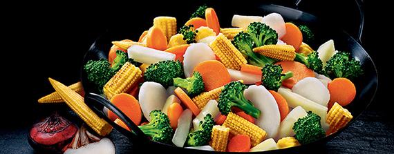 Grönsaker i wokpanna