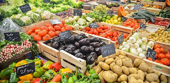Groenten op de markt