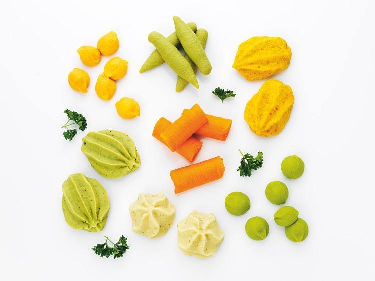 klickar av grönsakspureér