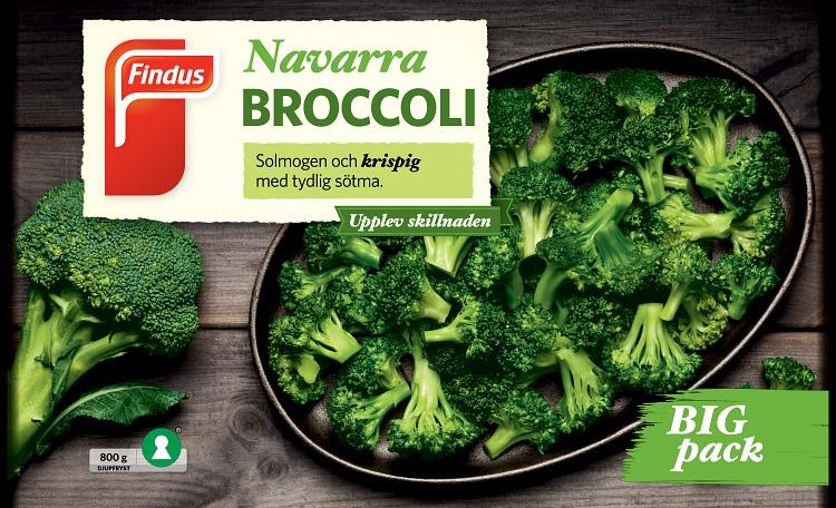förpackningsomslag navarra broccoli bigpack