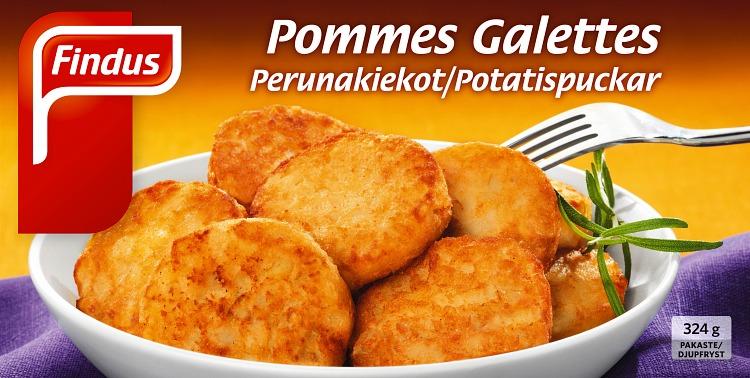Perunakiekot Pommes Galettes