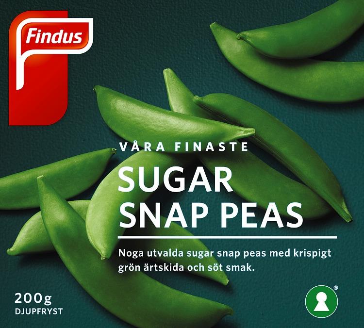 förpackningsomslag sugar snap peas