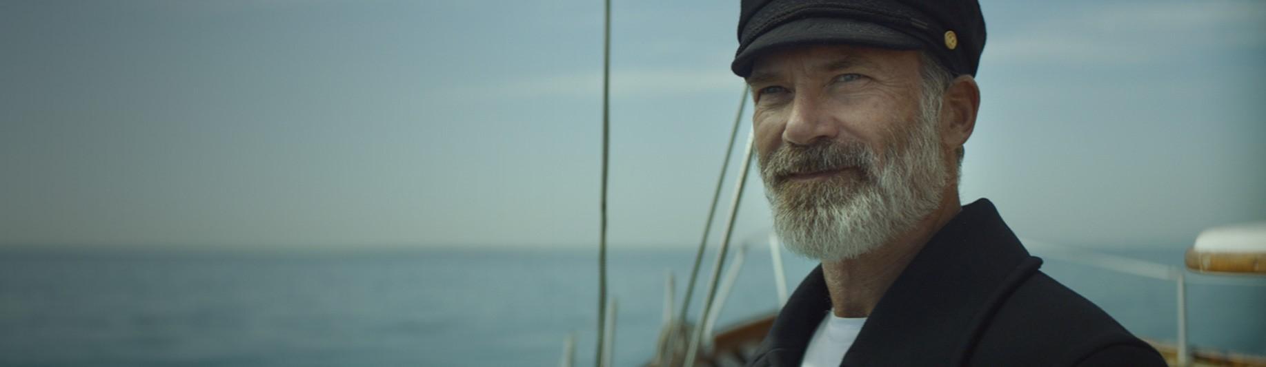 captain Birds Eye on a boat