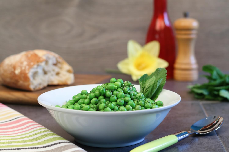 minted garden peas