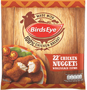 22 wholegrain chicken nuggets