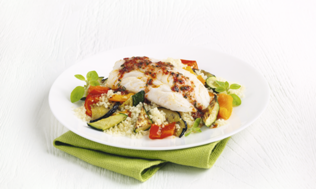 cod couscous veg