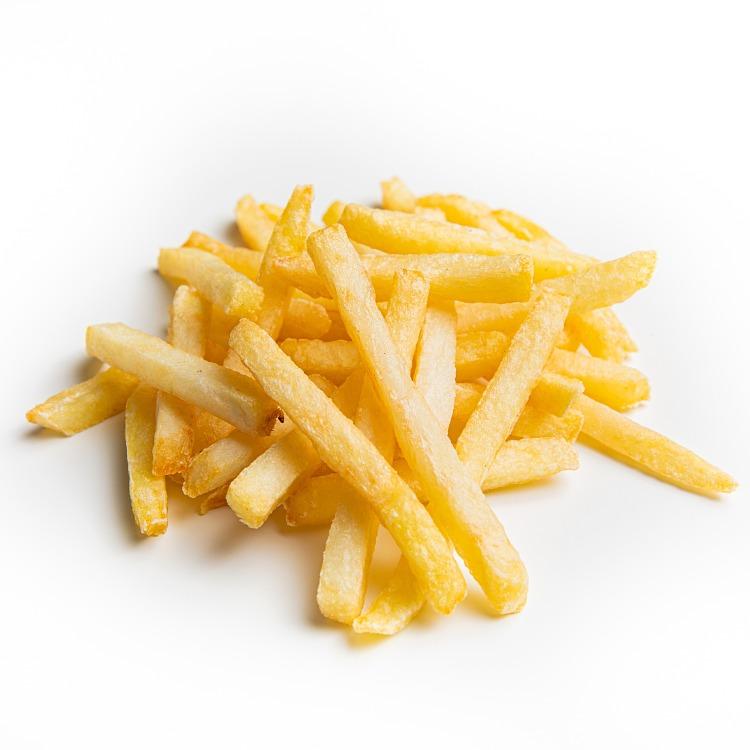 Produkt nærbilde: Pommes Frites rettkuttede i porsjonsskål.