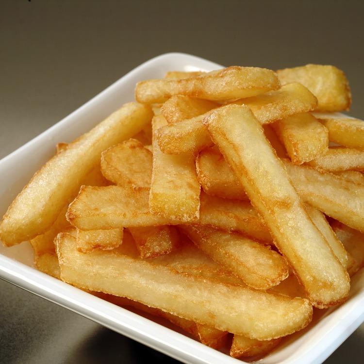 Produkt nærbilde: Pommes bistro (tykke) i porsjonsskål.