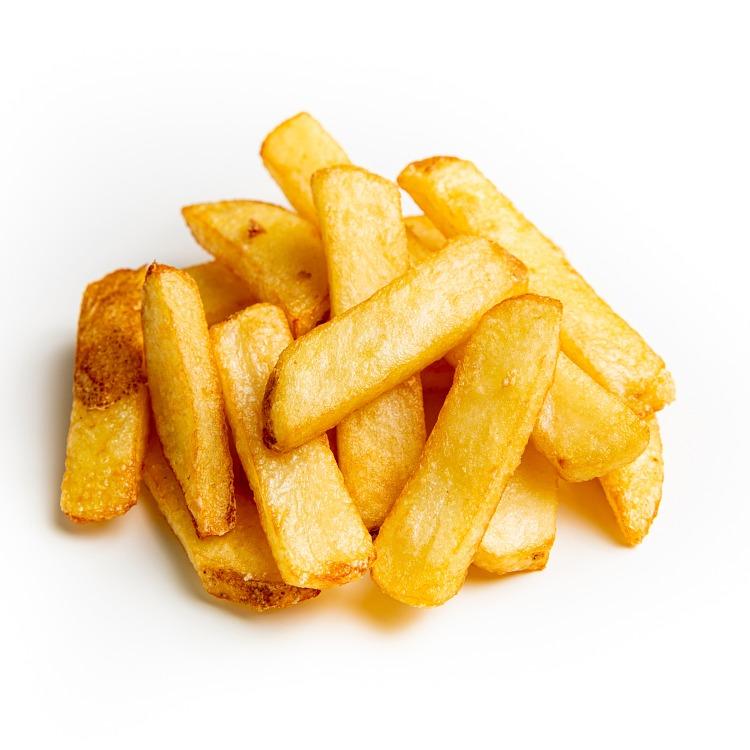 Produkt nærbilde: Steakhouse Fries gourmet med skall, porsjon fra storpakning.