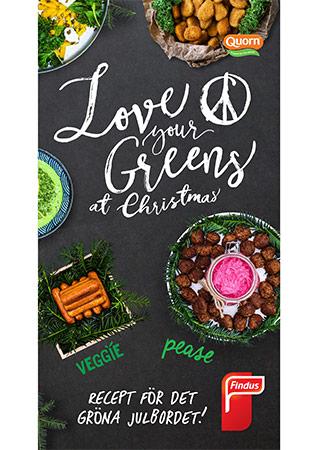 Love your greens det gröna julbordet inspirationsblad framsida