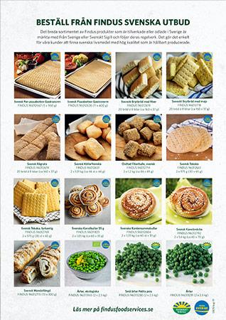 Findus foodservices produkter från sverige