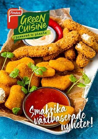 Framsidan av Findus Foodservices receptfolder för Green Cuisine