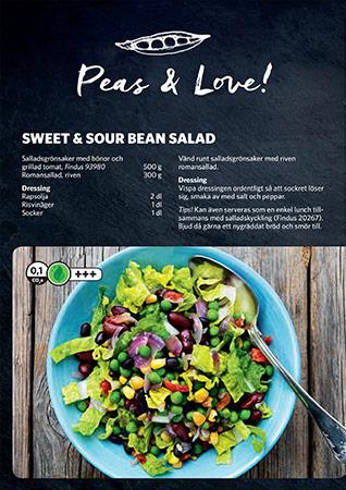 Receptblad peas and love inspirationsblad framsida