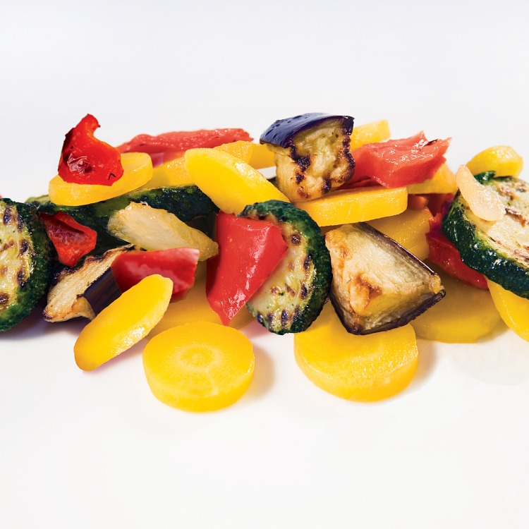 Grillade grönsaker morot zucchini