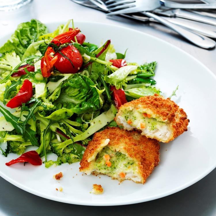 Fylld rödspätta med broccoli och ost, MSC-märkt