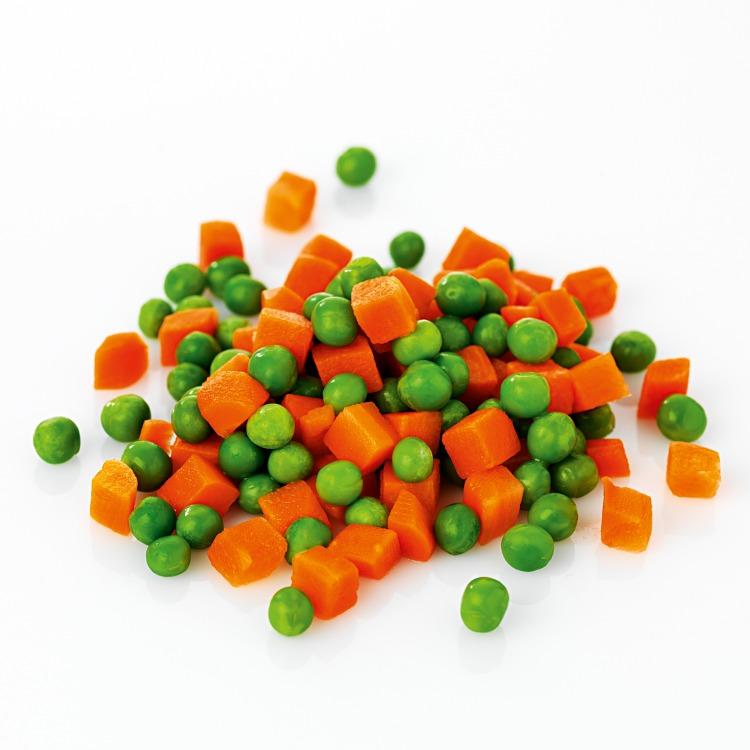 Grönsaksmix av morötter och ärter