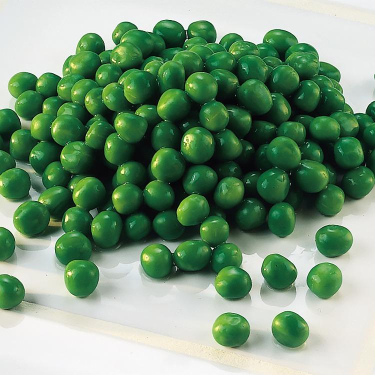 En hög med gröna ärter
