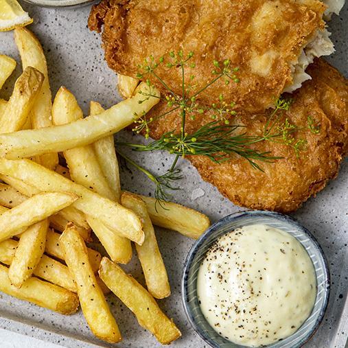 Fish & Chips med remouladsås