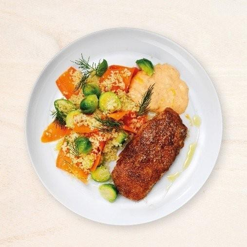 Kapkummel med couscous och ajvardressing