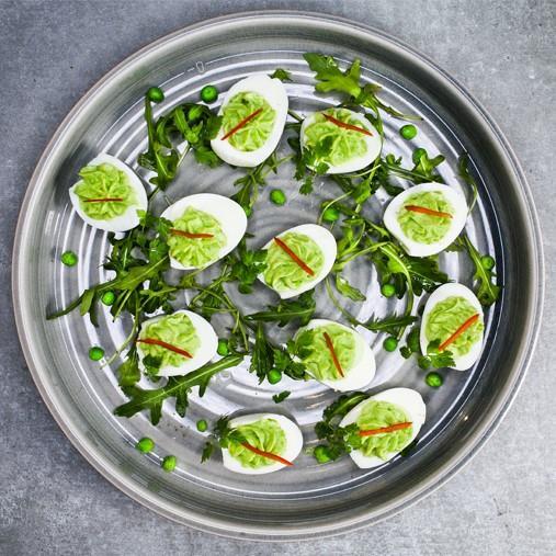 Ärtiga ägghalvor