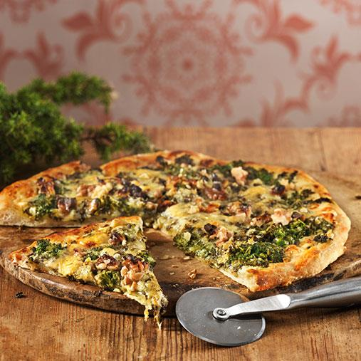 Pizza med grönkål
