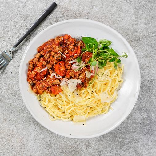 Spaghetti med Quorn bolognese